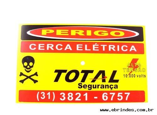 PLA CA DE SEGURANÇA CERCA ELÉTRICA