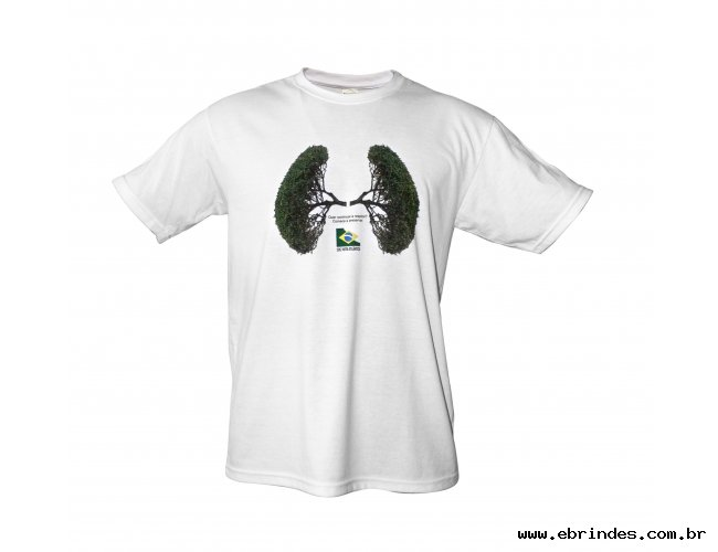 Camiseta em malha PET com Estampa