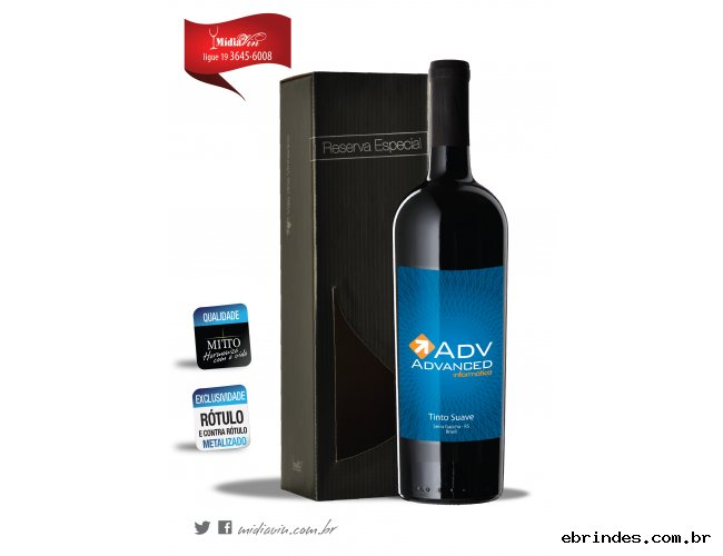 Vinho Personalizado + Embalagem Individual R.E.