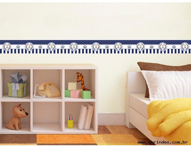Faixa adesiva decorativa - Urso Azul