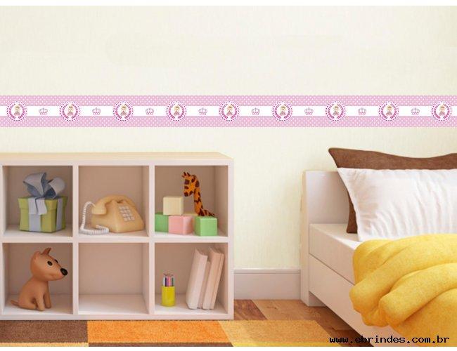 Faixa adesiva decorativa - Urso Rosa