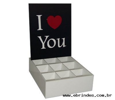 Caixa para Presente - I Love You