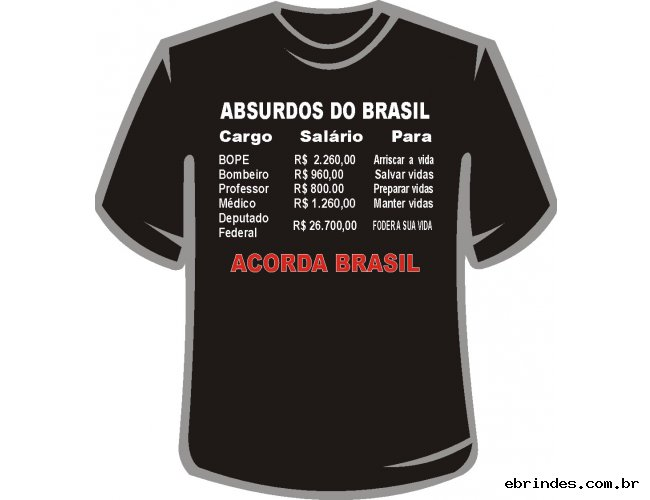 "CAMISETA ""ACORDA BRASIL"""