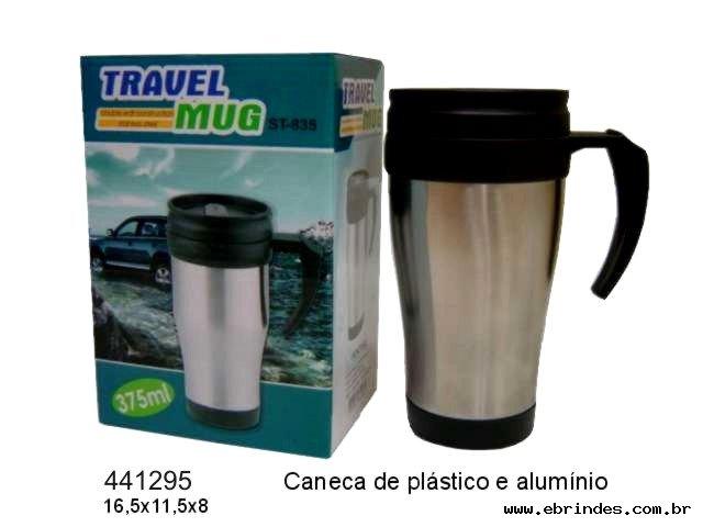 Caneca de Plástico e Alumínio - 375 ml