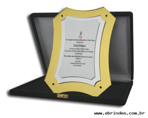 placas de homenagens