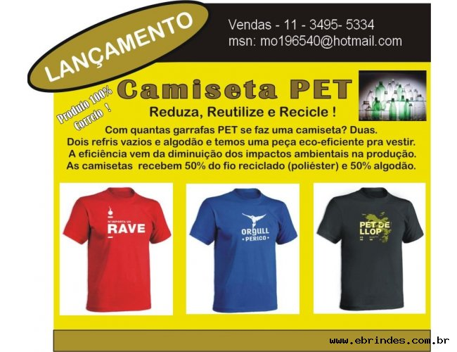 Camiseta de Pet- Camiseta Ecologica