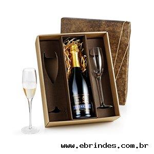 Jogo de Taças de Vidro para Champagne