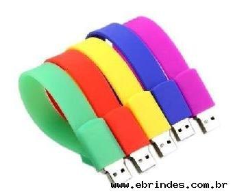 Pulseira pen drive em silicone