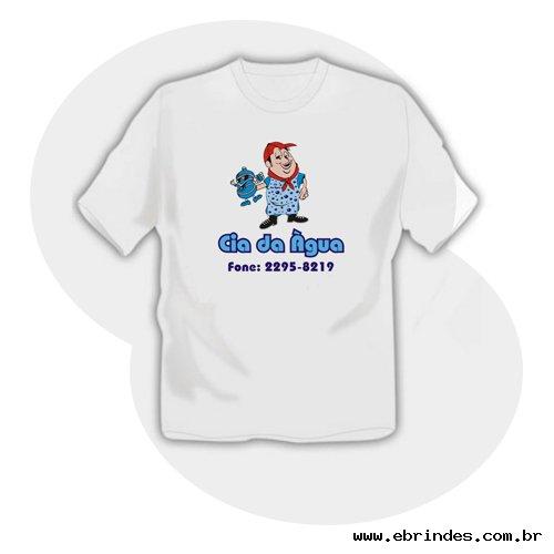 Camiseta branca em transfer - FRENTE