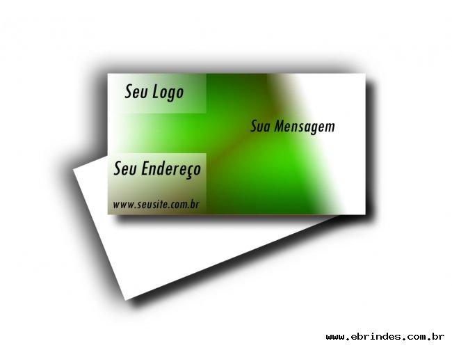 Cartões Visita em PVC só frente 8,5 x 5 cm