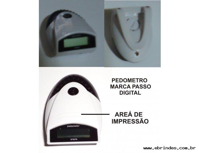 PEDOMETRO - MARCA PASSO DIGITAL PROMOCIONAL