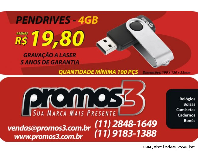 PENDRIVERS 4 GB