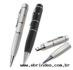 Pen Drive 2GB acompanha caneta