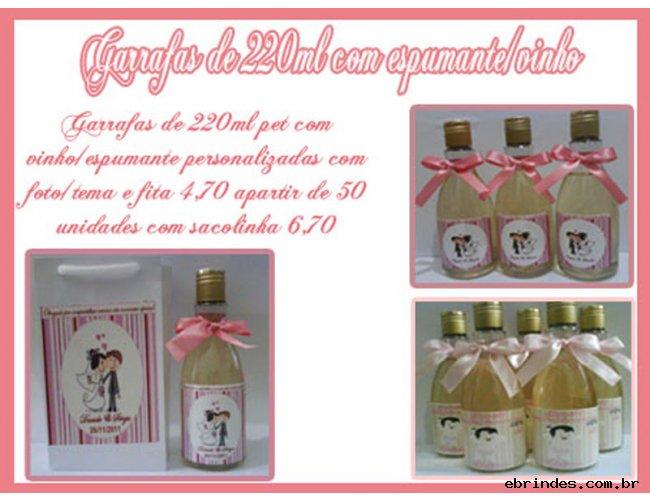 50 garrafinhas 220ml tipo mini chandon baby 4,30 promoção!!!