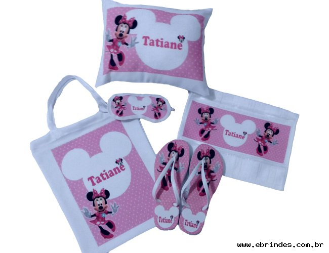 kit festa do pijama minnie moana patrulha canina varios temas