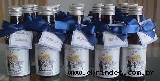 Mini garrafinhas de vinho personalizada vidro  50ml 4,50 completa