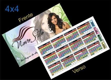 Cartão 4x4 calendário