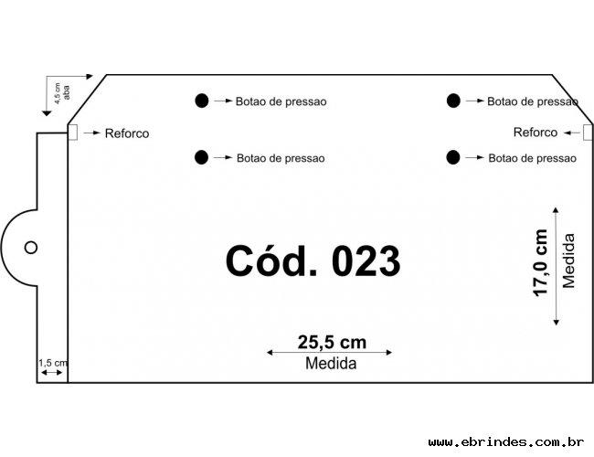 Embalagem PVC  25,5x17 Horizontal