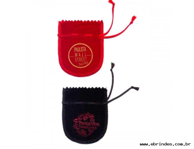 Saquinhos de Veludo com Estampa da Logomarca