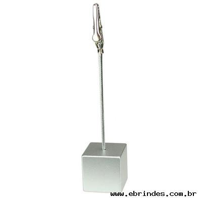 Porta recado jacaré prata em formato quadrado