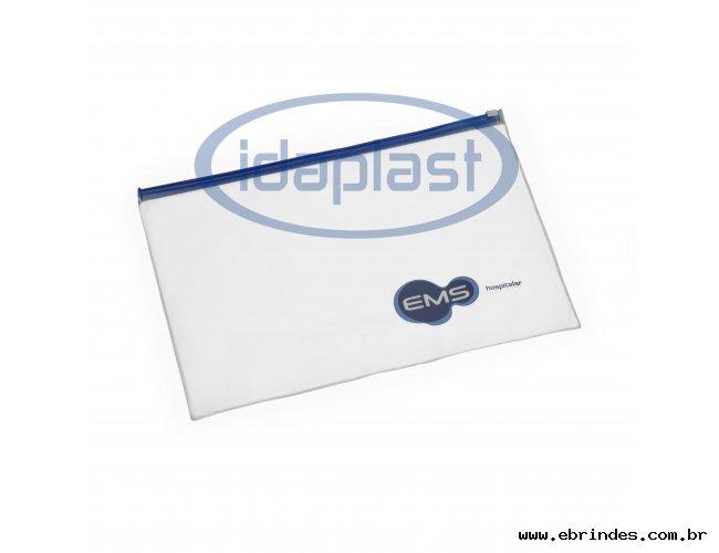 Envelope com zíper plástico zip-zap