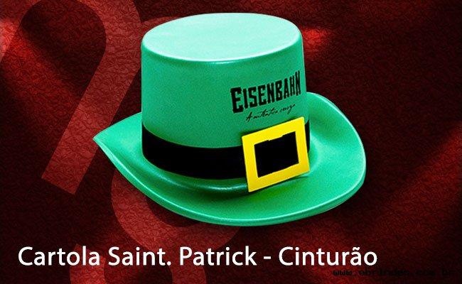 Cartola Saint Patrick - Cinturão,chapéus eva.brindes eva,cartolas em eva,cartola eva,Saint Patrick,
